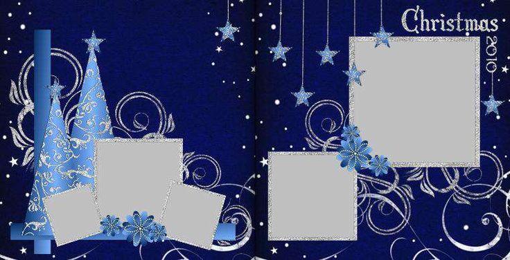 Blue Christmas ~ scrapbook layout