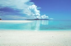The third biggest atoll in the world , Takabonerate island national park, South sulawesi Indonesia