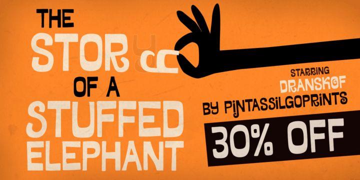 Dranskof (30% discount, 13,29 €) - http://fontsdiscounts.com/dranskof-30-discount-20-30/