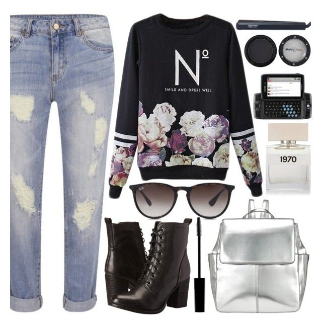 """""""Math in 10 Mins."""" by sweet-jolly-ranchers ❤ liked on Polyvore featuring moda, VILA, Kin by John Lewis, Steve Madden, Lord & Berry, Ray-Ban, Bella Freud, Manic Panic, José Eber ve school"""