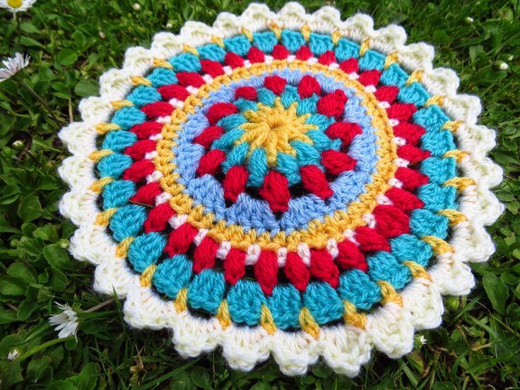 padrão de mandala de crochê