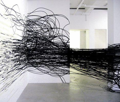 Polish artist Monika Grzymala creates amazing art installations using tons of sticky tape