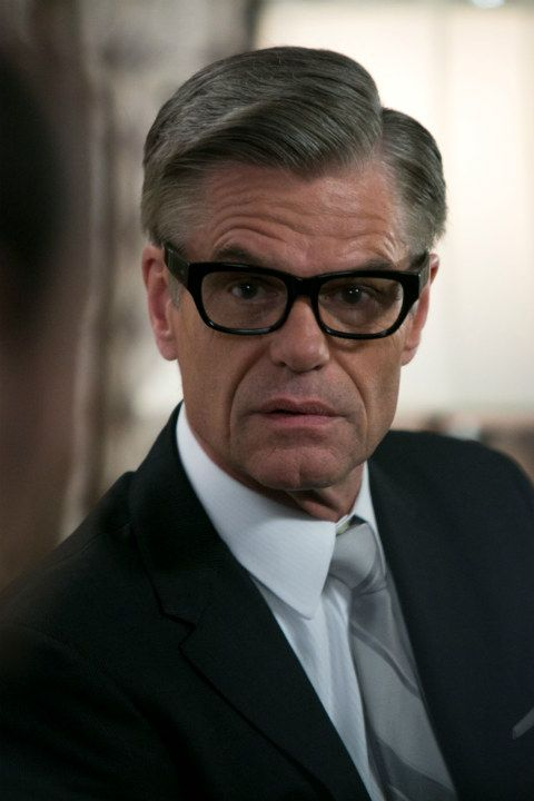 Old Focals are the exclusive supplier of exquisite eyewear for the series Mad Men. Harry Hamlin wears The Getz - named in honor of late Hollywood prop master Scott Getzinger