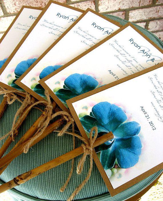 Blue Crush Orchid Destination Beach Wedding by PalmLeafInvitations