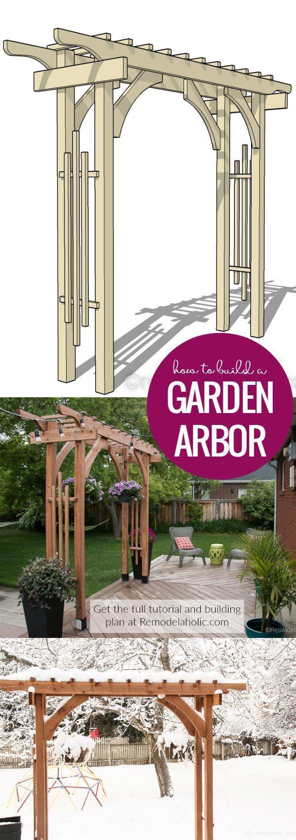 25 + › Wie man eine Gartenlaube für eine Hinterhofstruktur oder Hochzeit im Freien baut Dieses g…