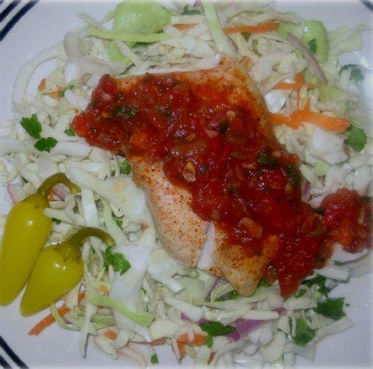 drbarrnd.com I'm sorry this isn't a real recipe but pretty self explanatory.  Fish Taco Salad Hcg Recipe
