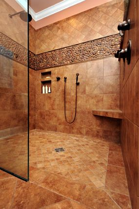 vim level entry shower system designed by jeane kitchen and bath design of raleigh nc - Tuscan Bathroom Design
