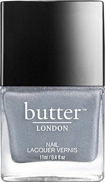 butter LONDON Dodgy Barnett Nail Polish | A highly holographic lacquer in a classic shade that blurs the line between grey and silver.