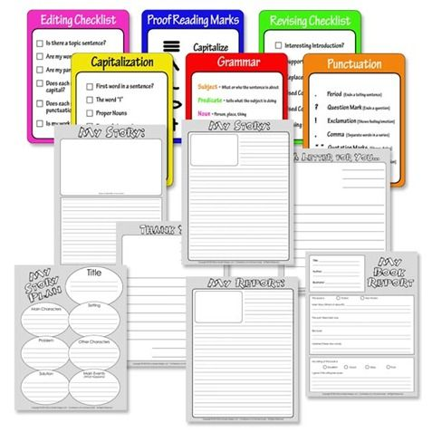 Free Story Writing Printables .. http://www.thecurriculumcorner.com/thecurriculumcorner123/2013/03/01/nonfiction-writing-blank-book-pages/ .. http://classroomcollective.tumblr.com/post/43320185918/how-to-stretch-a-sentence .. http://www.teacherspayteachers.com/Product/Speak-Think-Understand-KWL-Chart-241002 .. http://www.ashleigh-educationjourney.com/2013/04/change-of-pace.html