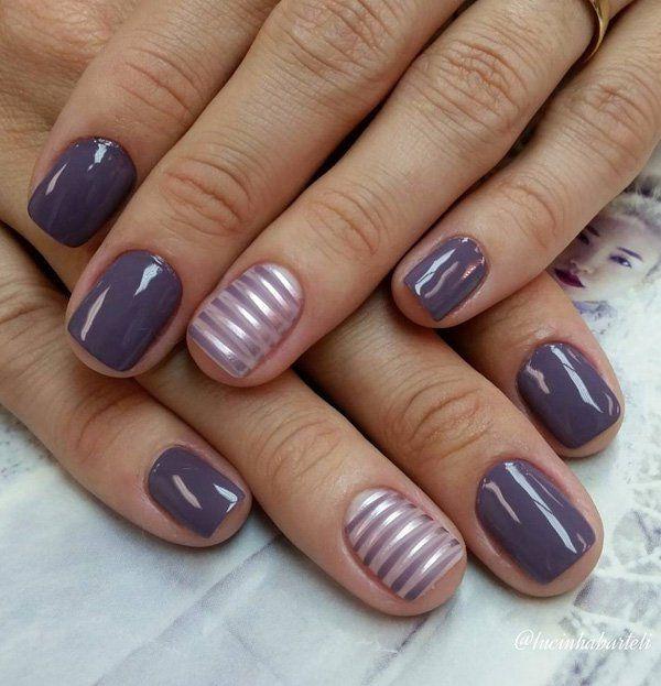 26 Diseños de Uñas de color Gris - Manicure