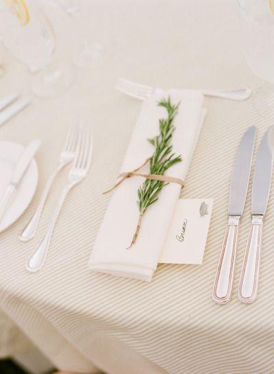 rosemary napkin idea