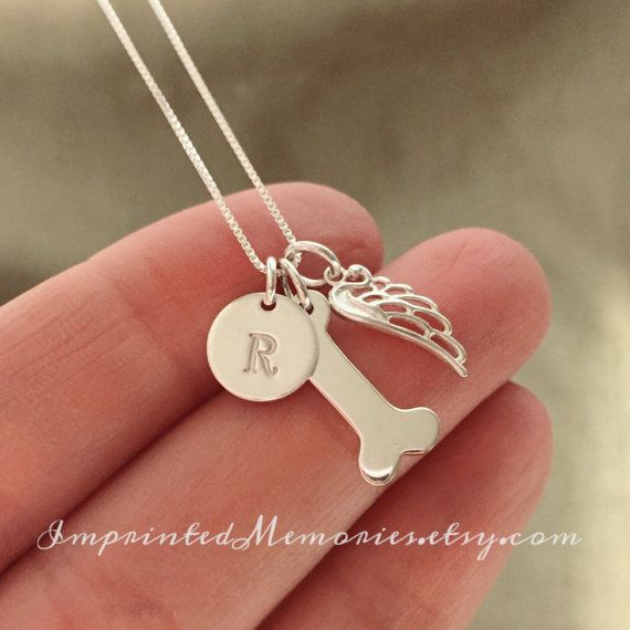 In Memory of a dog Necklace Sterling Silver by ImprintedMemories