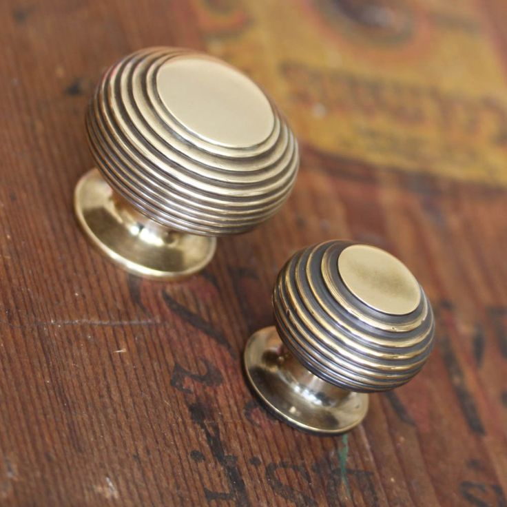 Brass Beehive Cabinet Knob http://www.willowandstone.co.uk/cabinet-knobs-fittings-/solid-brass-beehive-cabinet-knob.php