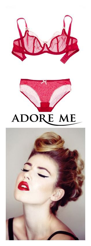 Red unlined bra from Adore Me Lingerie