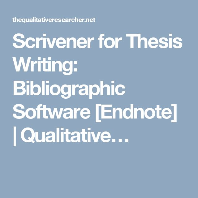 Thesis writing software www.thesis writing.com