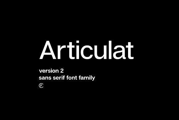 Articulat CF: utilitarian sans serif by Connary Fagen Type Design on @creativemarket