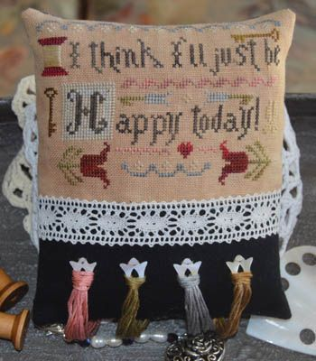 I Think I'll Just Be Happy Today From Abby Rose Designs - Cross Stitch Charts - Cross Stitch Charts - Casa Cenina