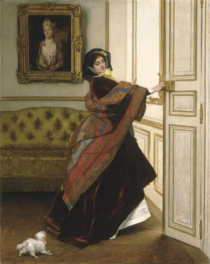 The Athenaeum - Departing for the Promenade (Alfred Stevens - No dates listed)
