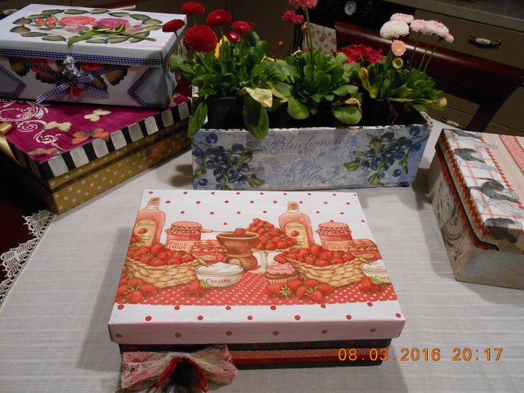 transformation of wooden and paper boxes...