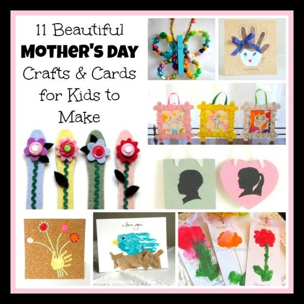 mother's day roundup : Crafts for kids to make for mom or grandma