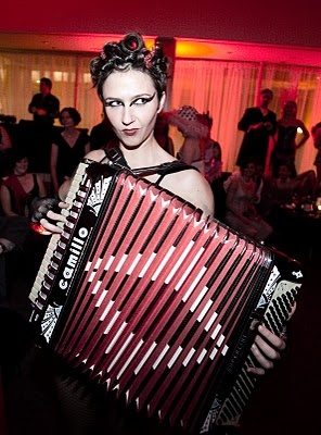 Miss Natasha Enquist - Performer, Accordionist, Singer, Actor, Model: Welcome to Hell - here's your accordion