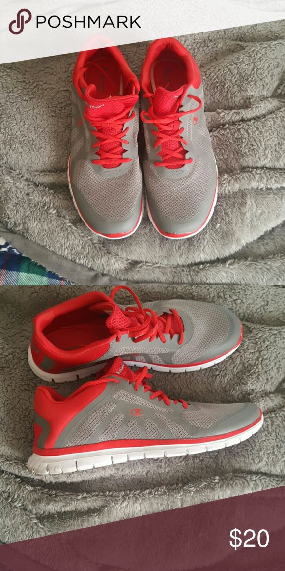 Champion shoes Gray and red Champion Shoes Athletic Shoes