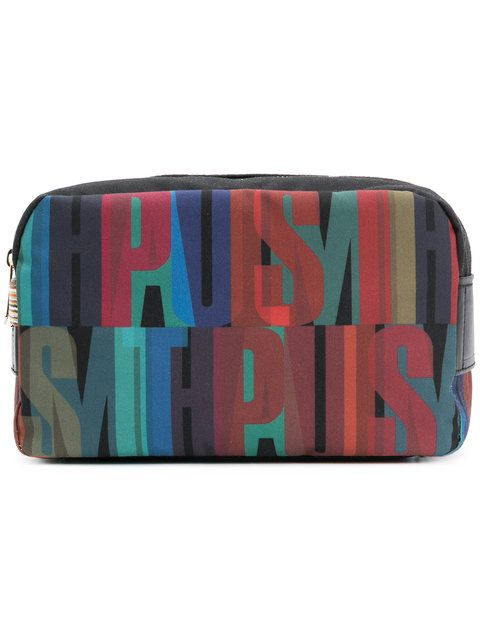 Paul Smith Logo Lettering-print Wash Bag - Farfetch