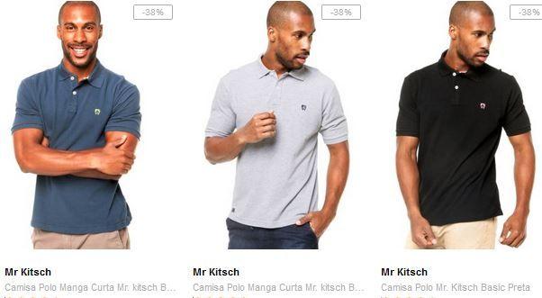 Camisas Polo Masculinas Mr Kitsch - 5 Cores Disponíveis << R$ 5599 >>