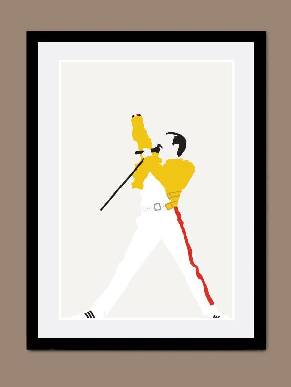 Freddie Mercury Poster by CreativePrint on Etsy, £7.00