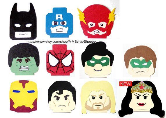 LEGO Superhero chef parti décorations par MMScrapShoppe sur Etsy