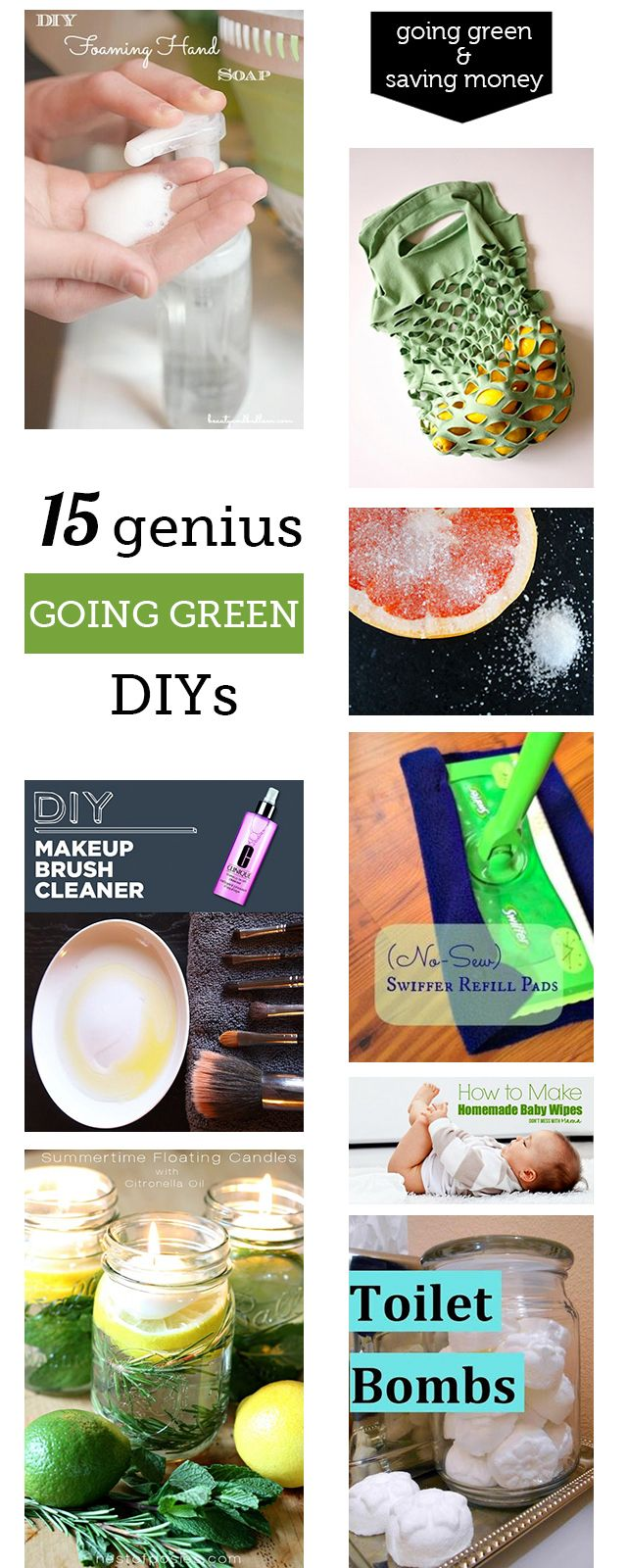 I might spend all weekend making these DIY green clean and beauty products - the homemade foaming hand soap costing only $1/year is my favorite!