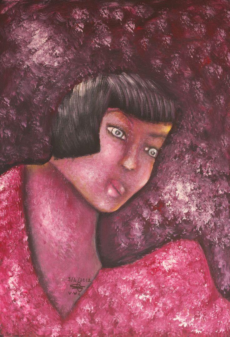"""VWL/Twen/013 (Paris 2012  """"Budapest"""")-Acrylic  on canvas/Acrylique  sur toile/Acrylico  sobre tela (38X55cm)"""