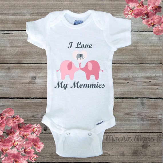 I Love My Mommies Baby Bodysuit This bodysuit is 100% Cotton!  Care for the bodysuit: Turn bodysuit inside out. Machine wash cold separately from others (first time only). Remove promptly from washer. Colors may bleed if left wet for too long. If bleeding occurs, rewash immediately. Tumble dry on low heat setting. Hand wash and hang dry for longer wear. Never bleach or iron over the design