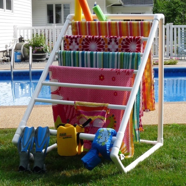 A pool and this stand to hold everything