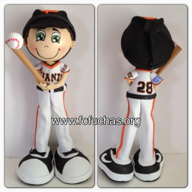 Take a look at this Baseball player Fofucho Doll I made perfect decor to any man cave or gift. Can be made in your favorite team and player. #baseball #The Giants #fofuchas