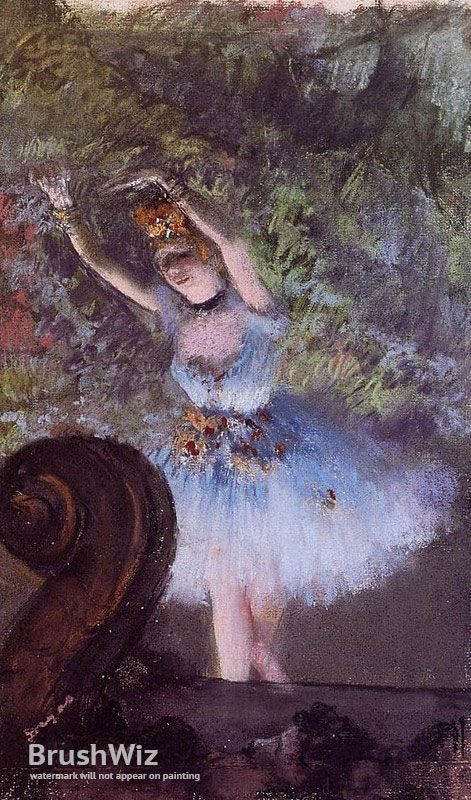 Dancer by Edgar Degas - Oil Painting Reproduction - BrushWiz.com
