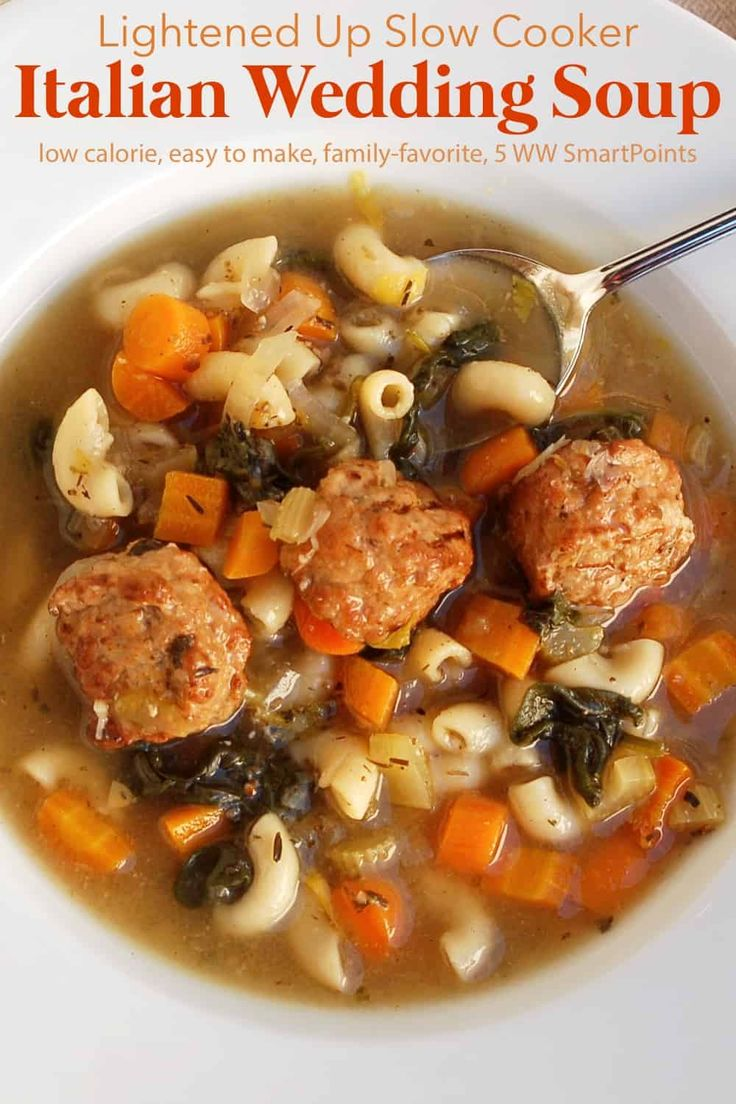 Easy Slow Cooker Italian Wedding Soup Recipe Food