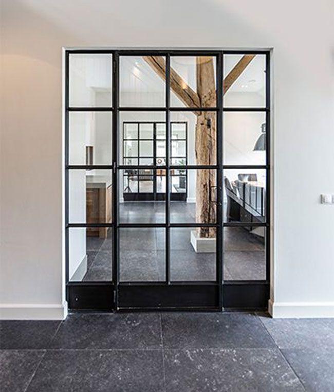 Zwarte stalen deuren #Dekru #iron #framed #doors #taatsdeuren #stalen deuren #pivot #deuren #casas #homes #vidrio #glass #vidro #puertas #doors #portas #stalen #black doors #internal #glass #steel #Stålglaspartier 인테리어의 핫 아이템 폴딩도어 ~ > 인테리어 이야기 | 웰컴아이 - 세상의 모든 견적 다 모여라~