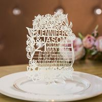 stylish papel picado inspired floral ivory laser cut wedding invitations swws019