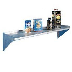 """Deluxe Ss Nsf Wall Shelf - 72""""W X 10""""D by AERO MANUFACTURING CO. $236.95. Deluxe SS NSF Wall Shelf - 72""""W x 10""""D This Wall Shelf measures 72""""W x 10""""D. Shelf is made with 16 gauge, 304 Series stainless steel that has a 1-1/2"""" lip on 3 sides with a 3/4"""" radius front roll. Stainless steel brackets are easily mounted to welded studs. Top is polished to a #4 mill finish. NSF Listed. 72.00 L. 10.00 W. 1.50 H."""