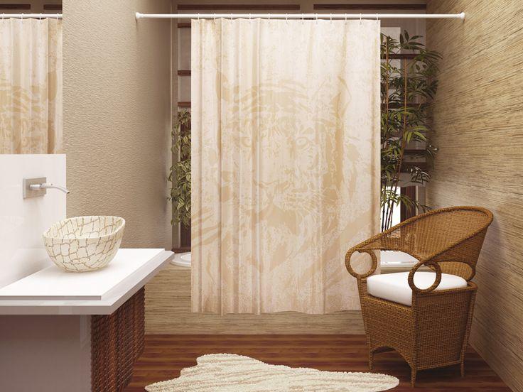 WESS Teigo - занавеска для ванной комнаты из ткани 180x200 см. Цена 1150р. Посмотреть на сайте: http://likemyhome.ru/catalog/shtorki-karnizy-kolca/00004079 #likemyhome #showercurtain #bathroomdecor #interiorstyle #wess #tiego