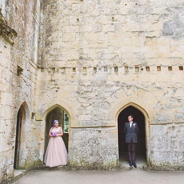 Kelly & Thom at #oldwardourcastle #wiltshire #wedding #instawedding #alternative