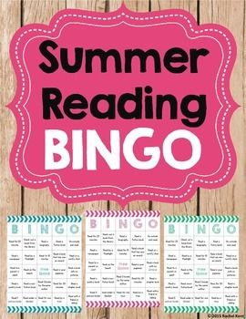 Free! Summer Reading Bingo encourages summer reading in a fun way! Throughout the summer students can do any of the reading activities on the Bingo board and then color them in. They can read by a flashlight, on the beach, read 3 books by the same author, read by a tree, and more! This is a great activity to hand out at the end of the year!