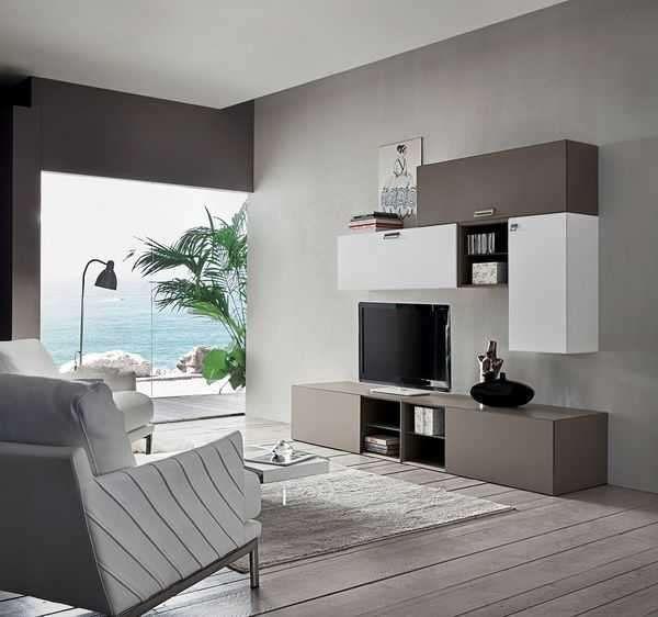 Arredare il soggiorno con il color tortora - Pareti soggiorno ...