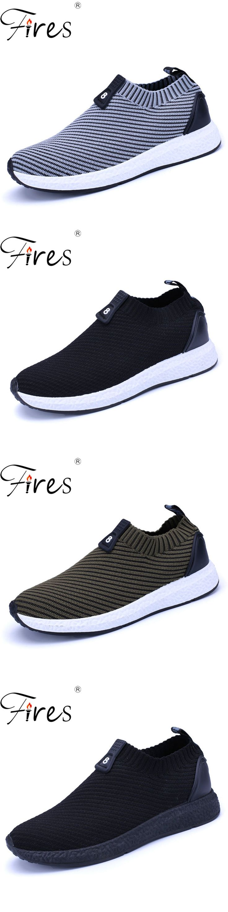 Fires Men Summer Shoes Light Sports Shoes For Man Running Shoes Fly Sneakers Autumn Trend Zapatillas Sport Flat Jogging Shoes