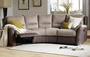 Revolve 4 Seater Curved Manual Recliner Arizona House Stuff Pinterest Fabric Sofa And