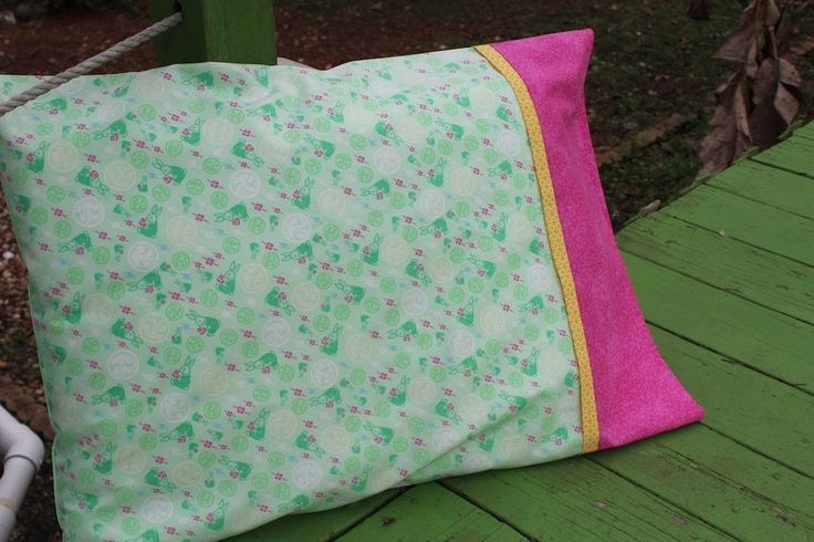 How to make a Pillowcase- Burrito/Sausage/Roll Up method NO Unfinished Edges and only three seams...like magic!   Any three fabrics you like.