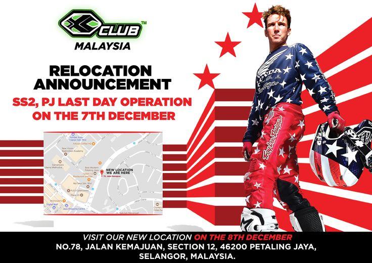 XCLUB MALAYSIA - SS2,PJ last day operation on 7th Dec. Our new Store at Kemajuan will be open on 8th Dec | bit.ly/2zABnEg |  #xtremerated #xclub #xclubmy