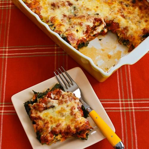 Recipe for Sausage and Kale Mock Lasagna Casserole (Low-Carb, Gluten ...