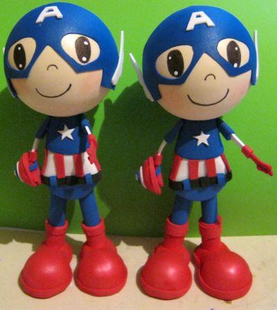 Patrones Fofuchas: Patrón fofucho Capitán América